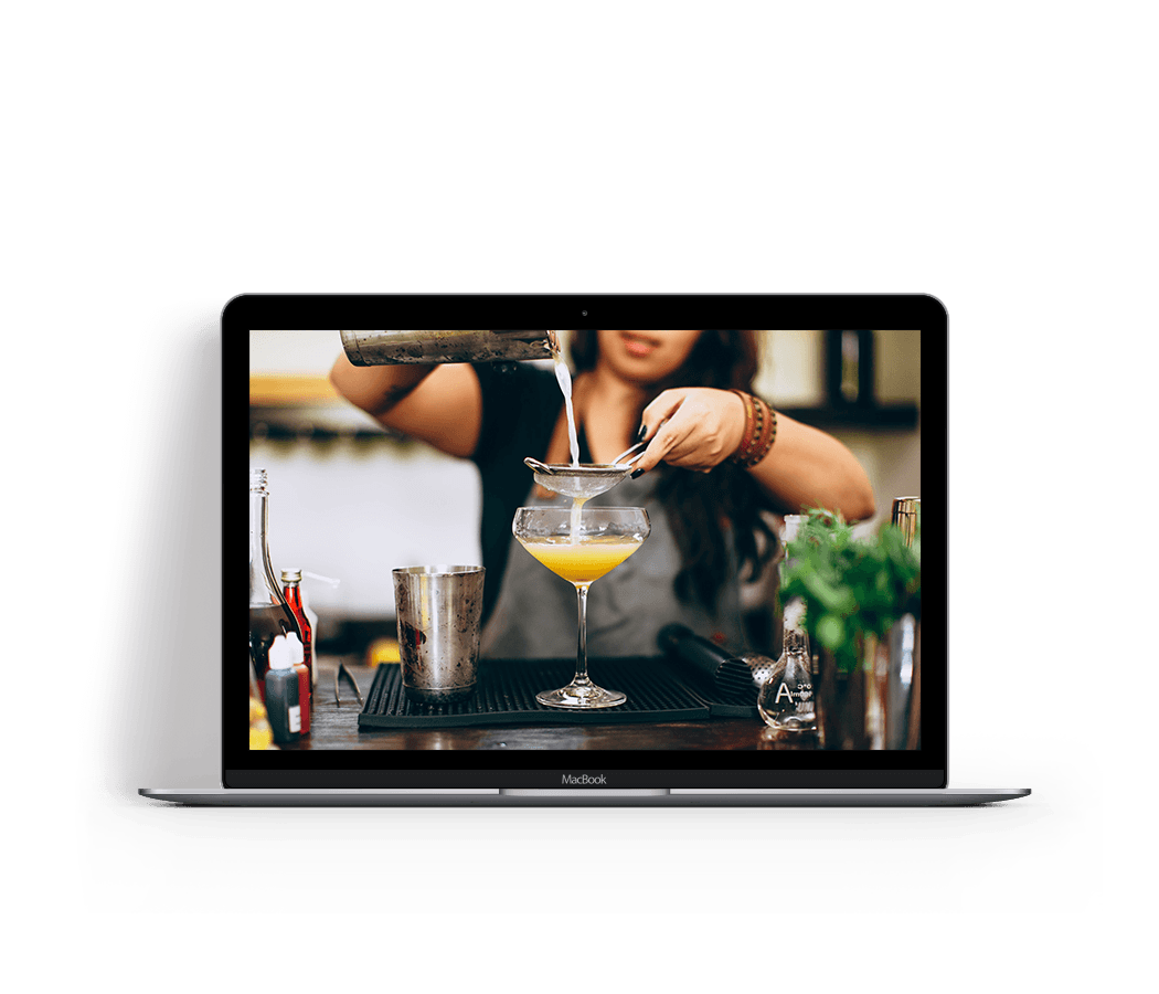 Online tips and tricks for making cocktails