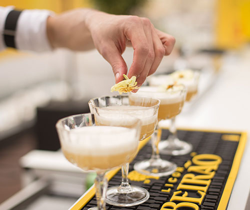 Virtual events, cocktail course